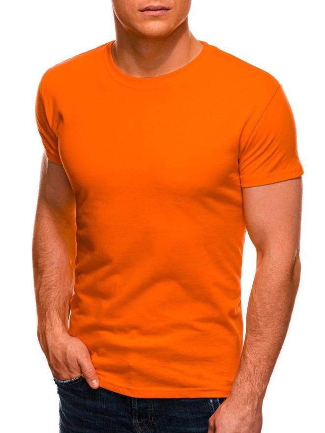 ead80b63cf8b54 T-shirt męski bez nadruku 970S - pomarańczowy