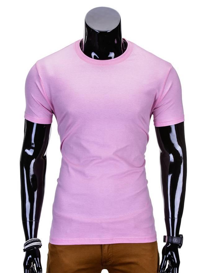 d3e720a732b6ec T-shirt męski bez nadruku 970S - różowy