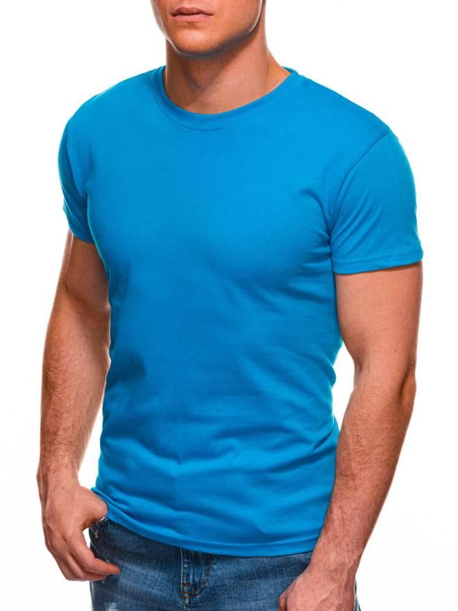 55f4d46a9b6c6d T-shirt męski bez nadruku 970S - turkusowy