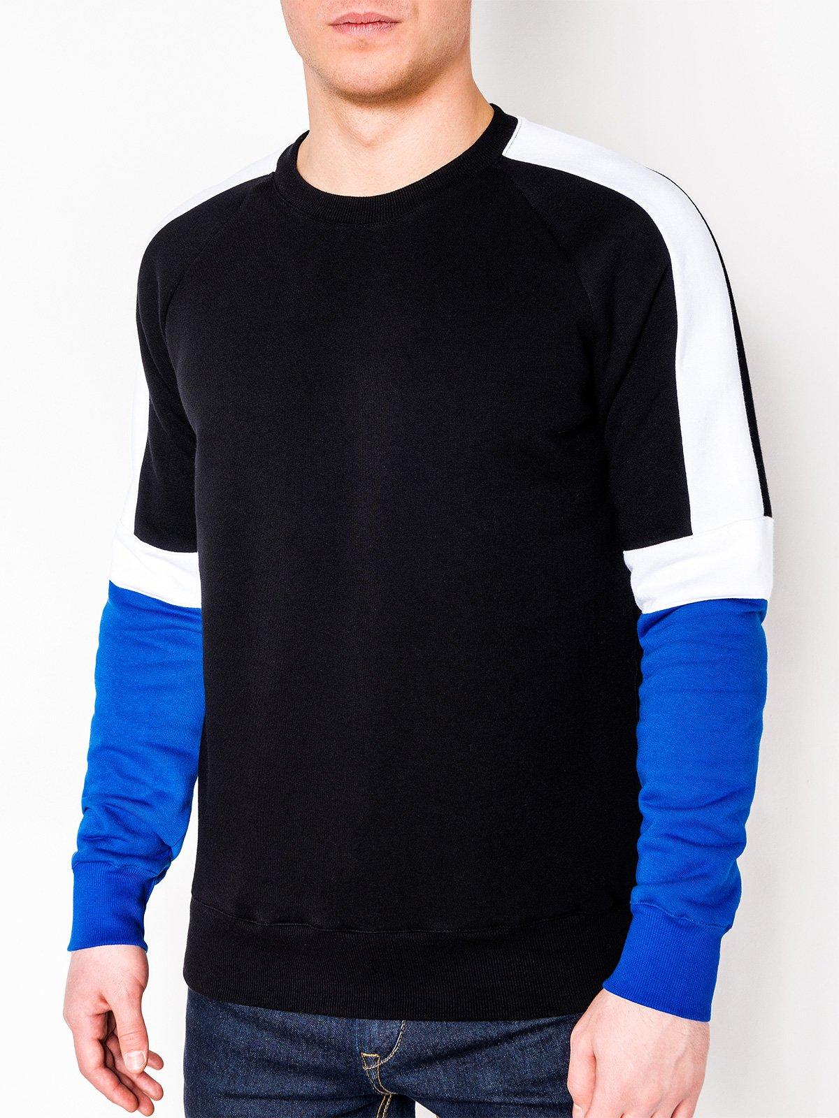 Bluza męska bez kaptura 872B czarna