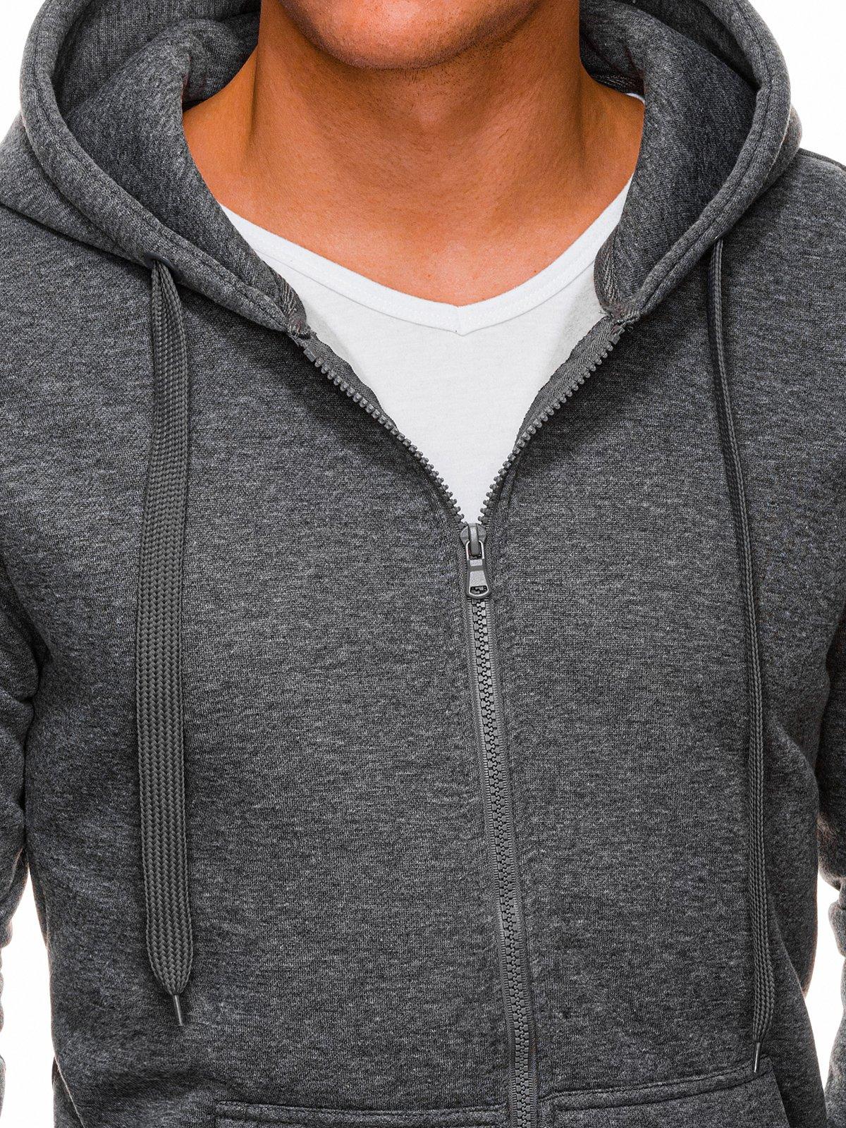 Bluza męska rozpinana z kapturem 895B szara