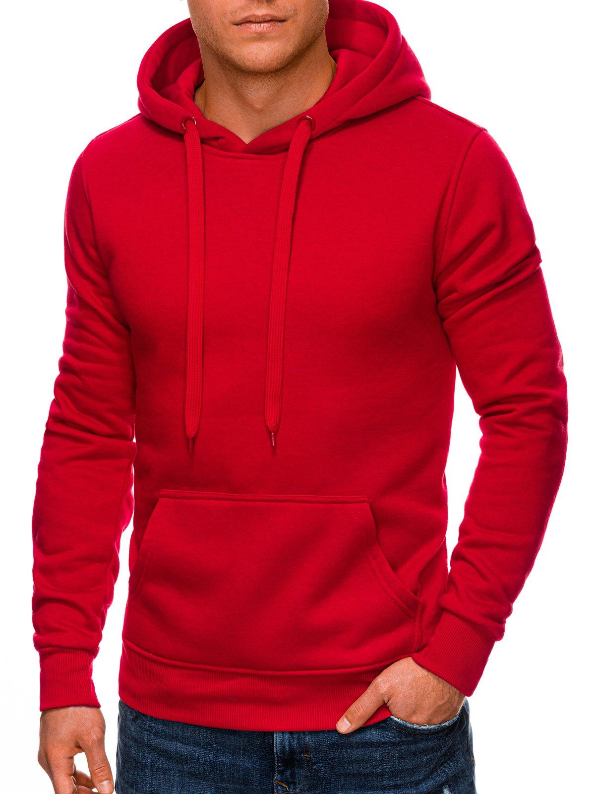 Bluza męska z kapturem 873B czerwona