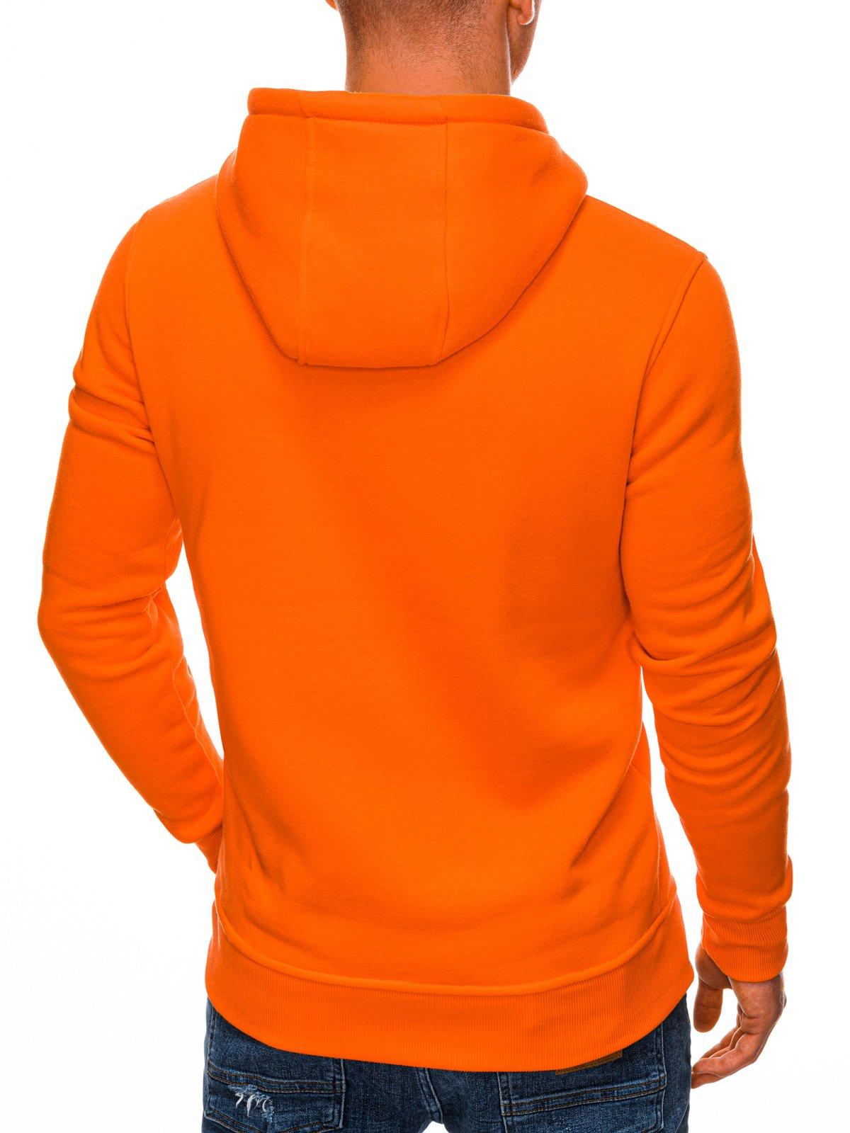 Bluza męska z kapturem 873B pomarańczowa