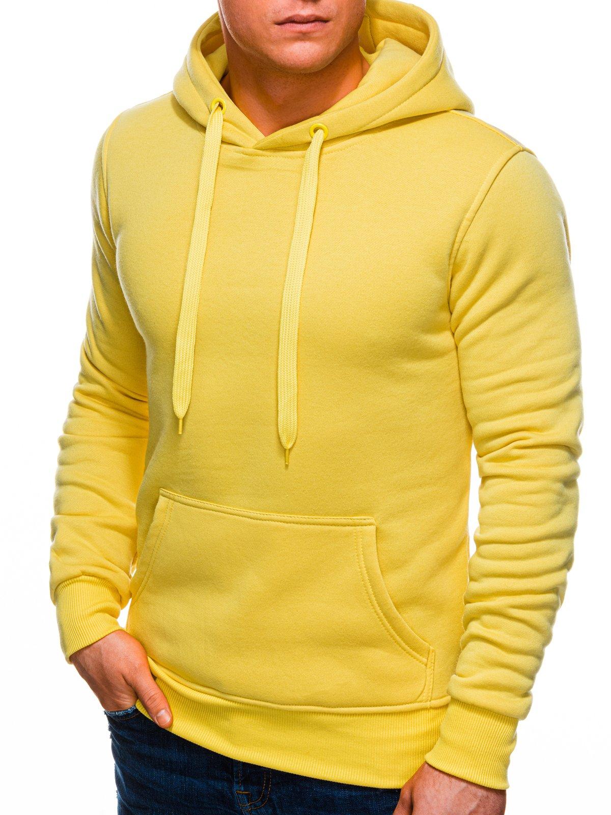 Bluza męska z kapturem 873B żółta