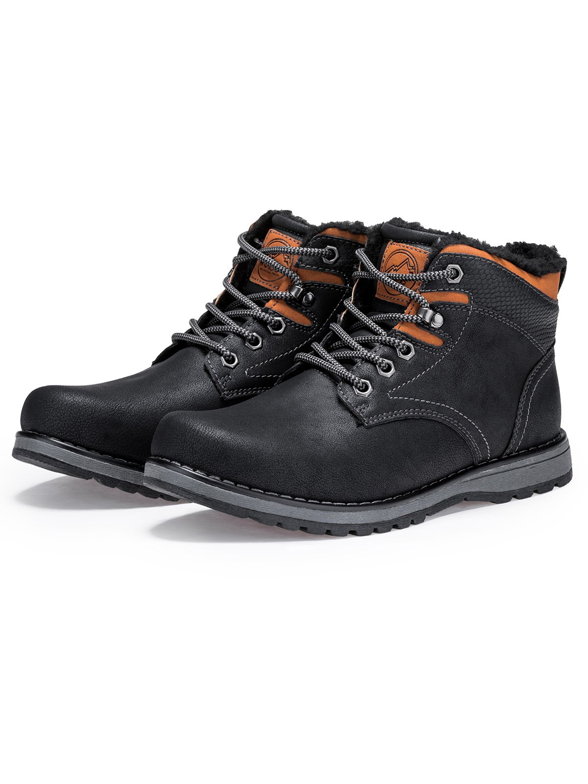Buty męskie zimowe trapery 252T czarne