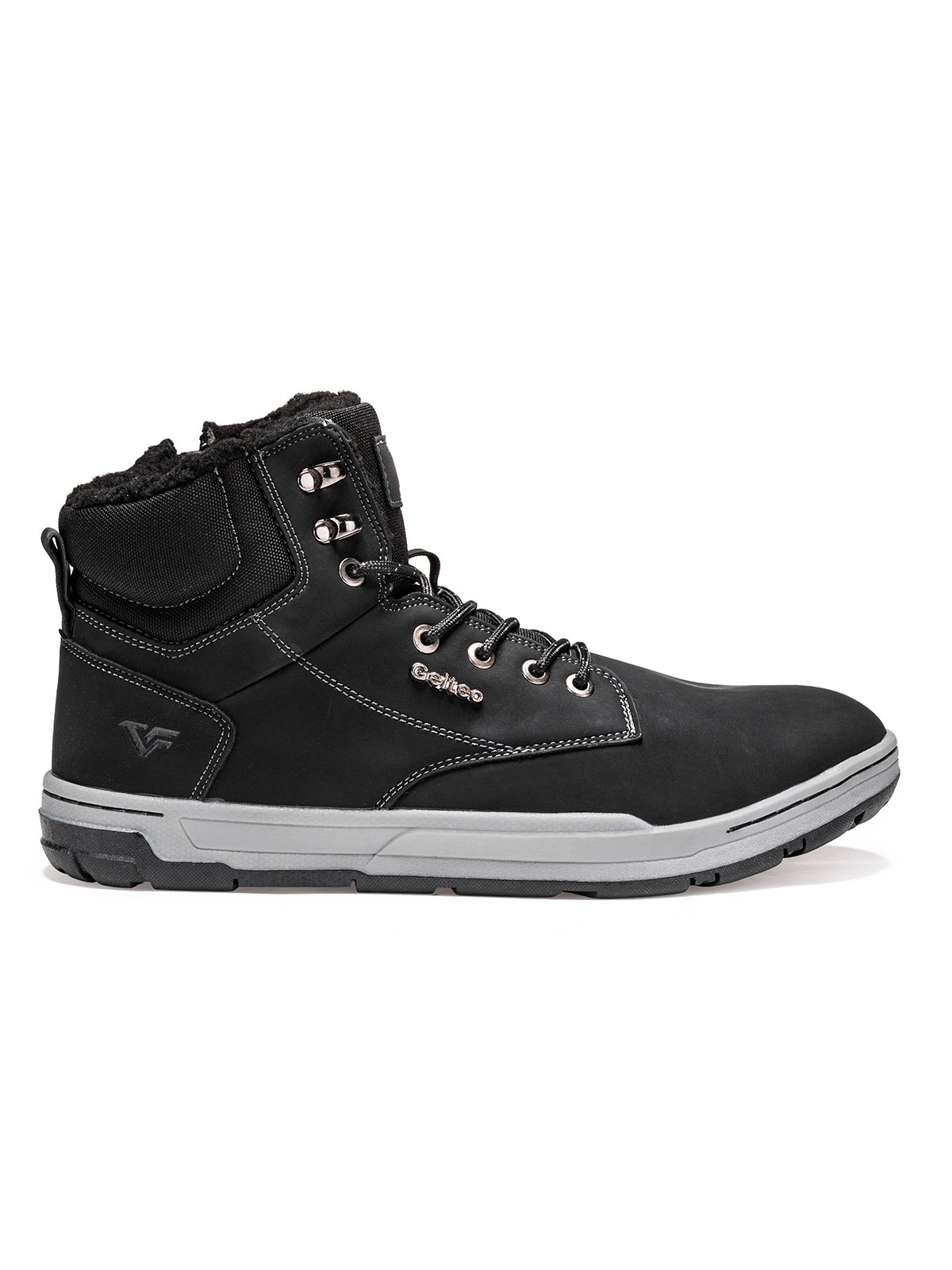 Buty męskie zimowe trapery 255T czarne