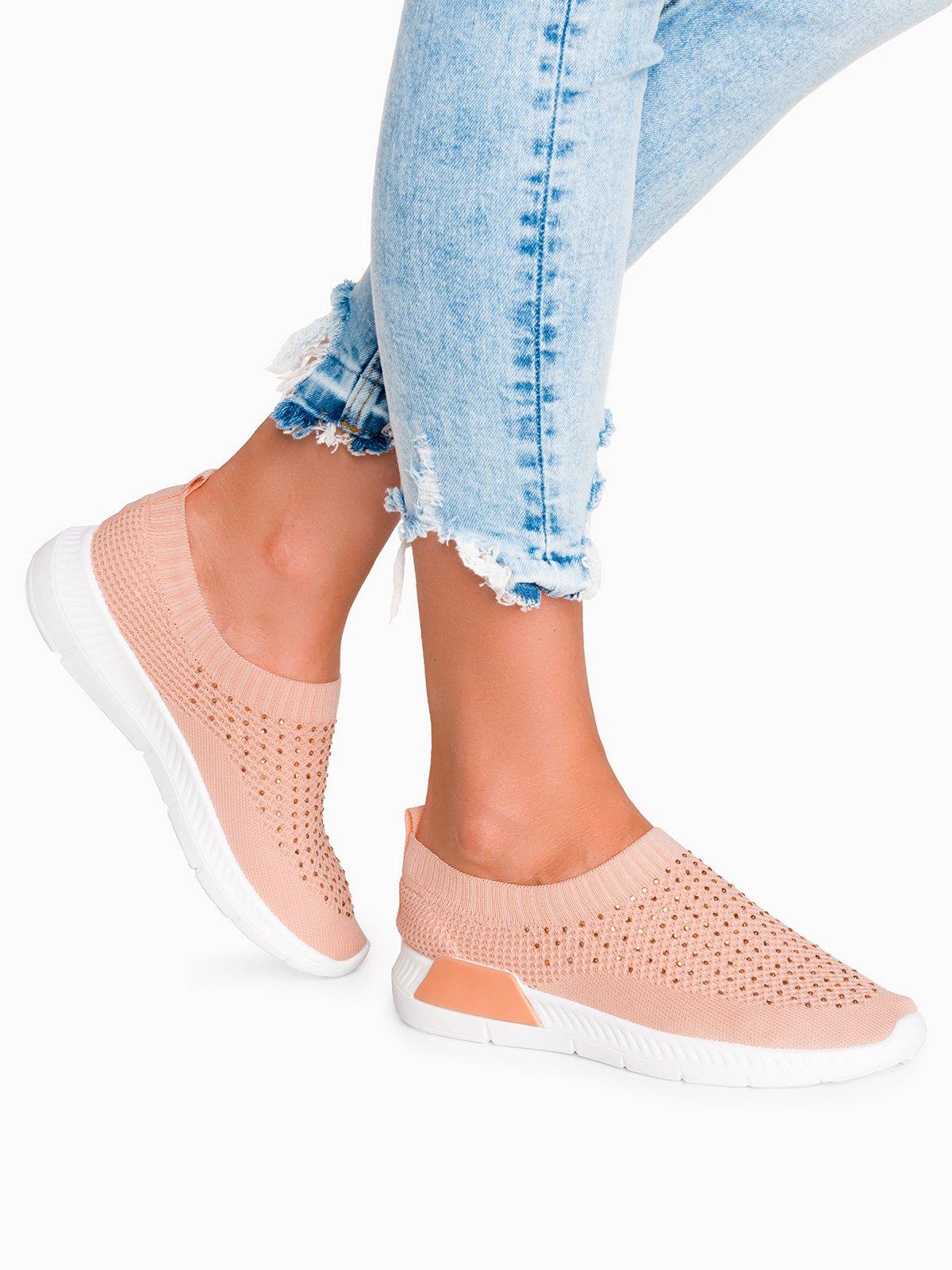 94f8eed0f2f39 Buty sportowe 113LR - koralowe różowy || koralowy | Dla niej \ Wszystkie  Dla niej \ Obuwie \ Wszystkie Dla niej \ Obuwie \ Sportowe - Edoti.com