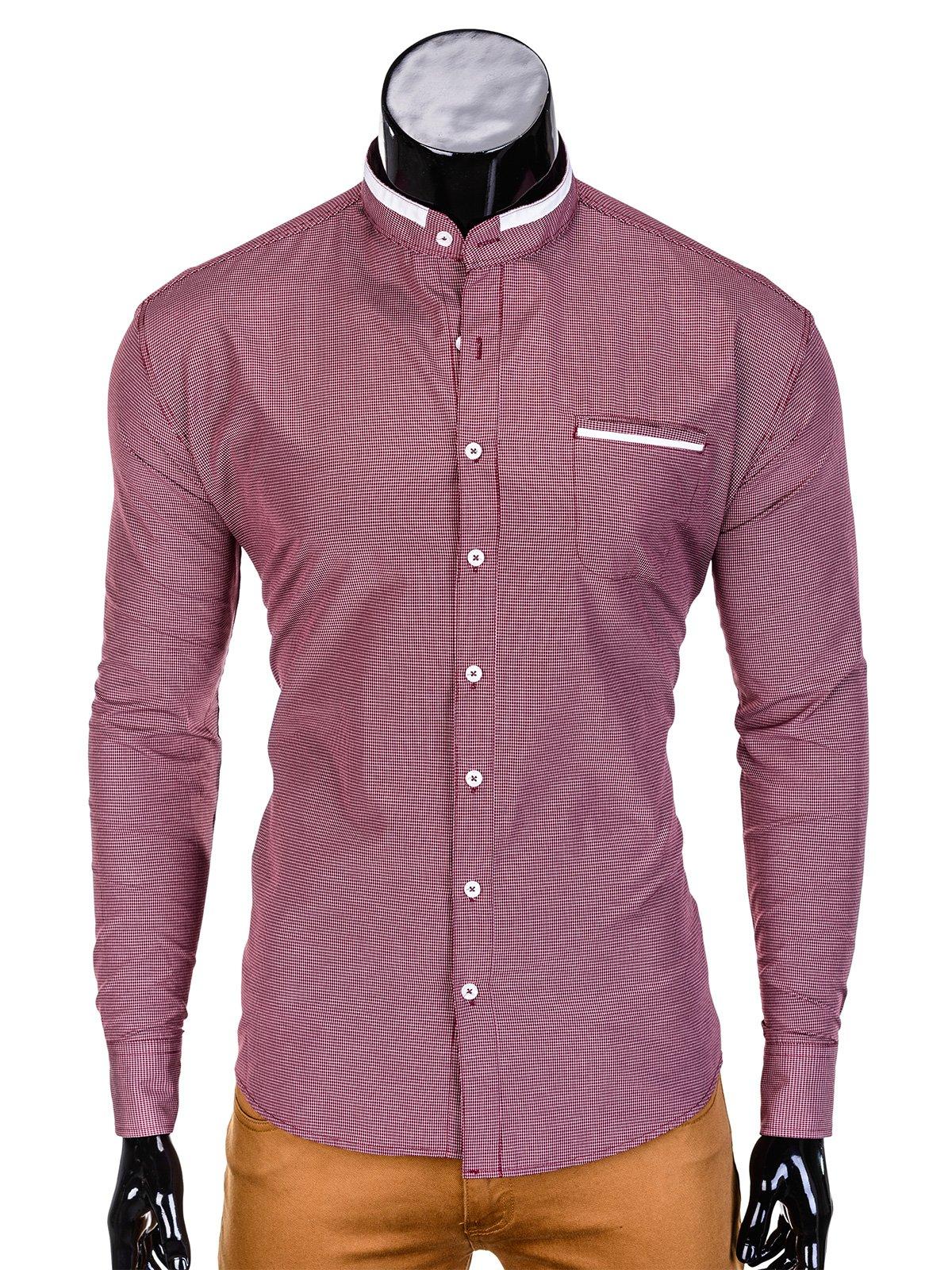 462d7c8b5bb9ee Koszula męska elegancka z długim rękawem 389K - czerwona czerwony | SALE \  Wszystkie SALE \ Koszule SALE \ OUTLET OMBRE \ Koszule - Edoti.com