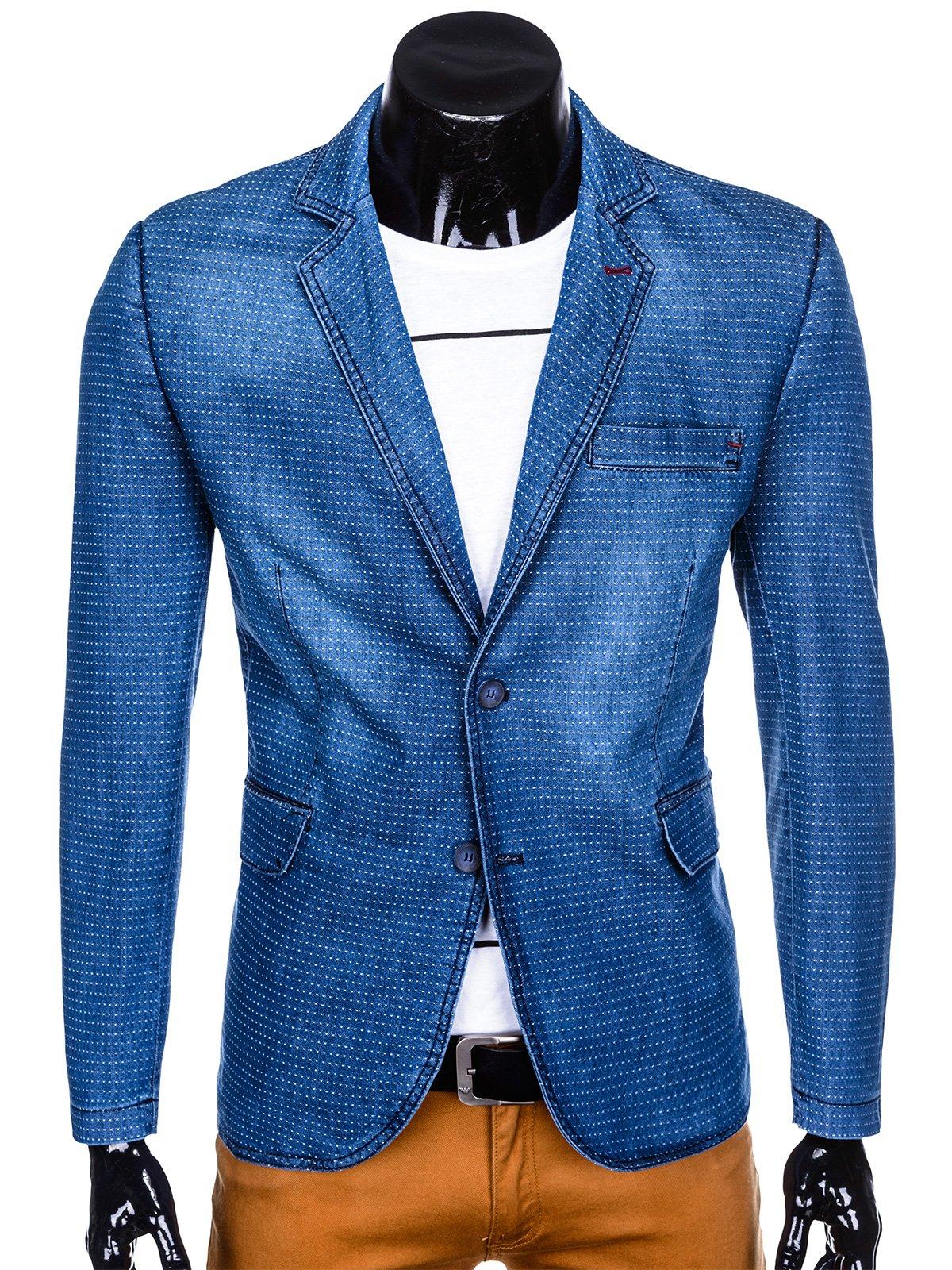 d86f0365971cf Marynarka męska 123M - jeansowa | Odzież \ Marynarki \ Wszystkie - Edoti.com