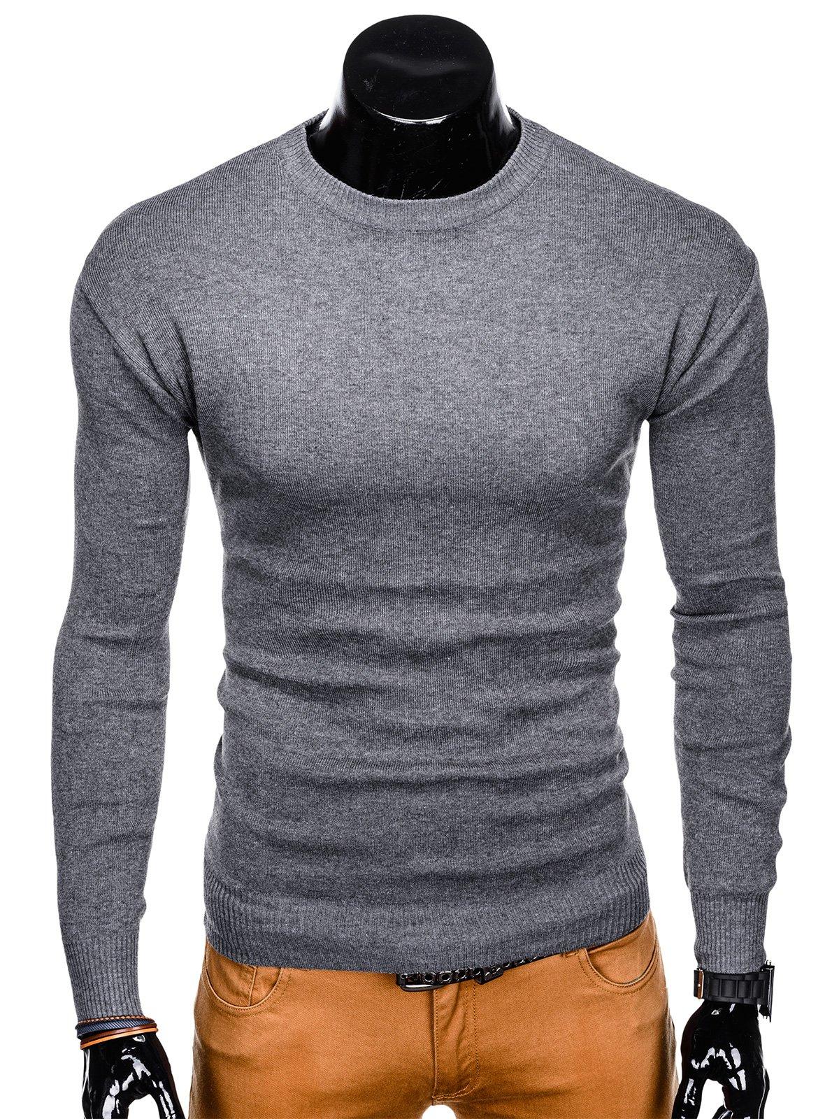 f7988f1d8fdc67 Sweter męski 142E - szary szary | Odzież \ Swetry - Edoti.com