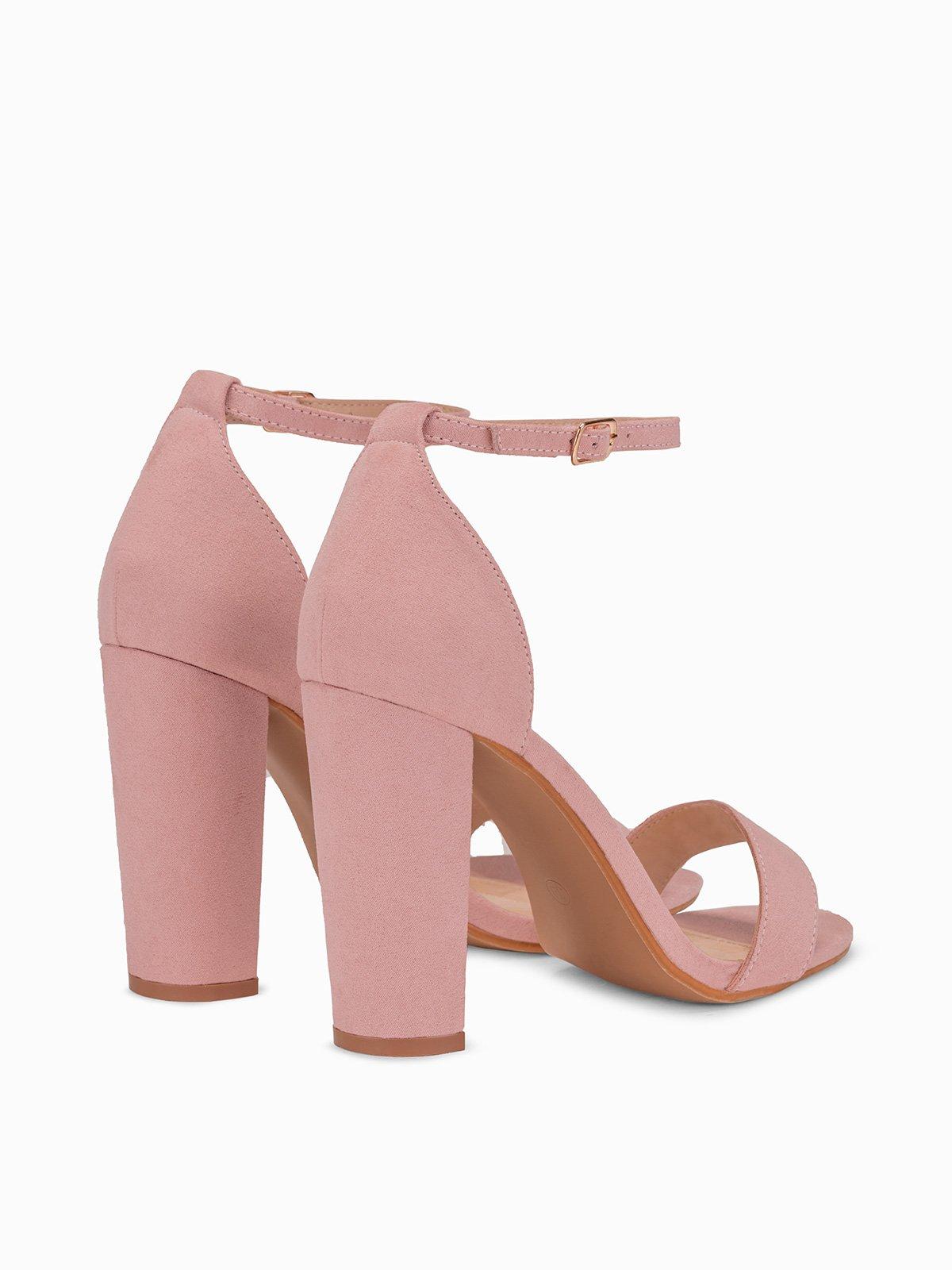 Sandały na słupku 293LR różowe różowy   Dla niej Obuwie