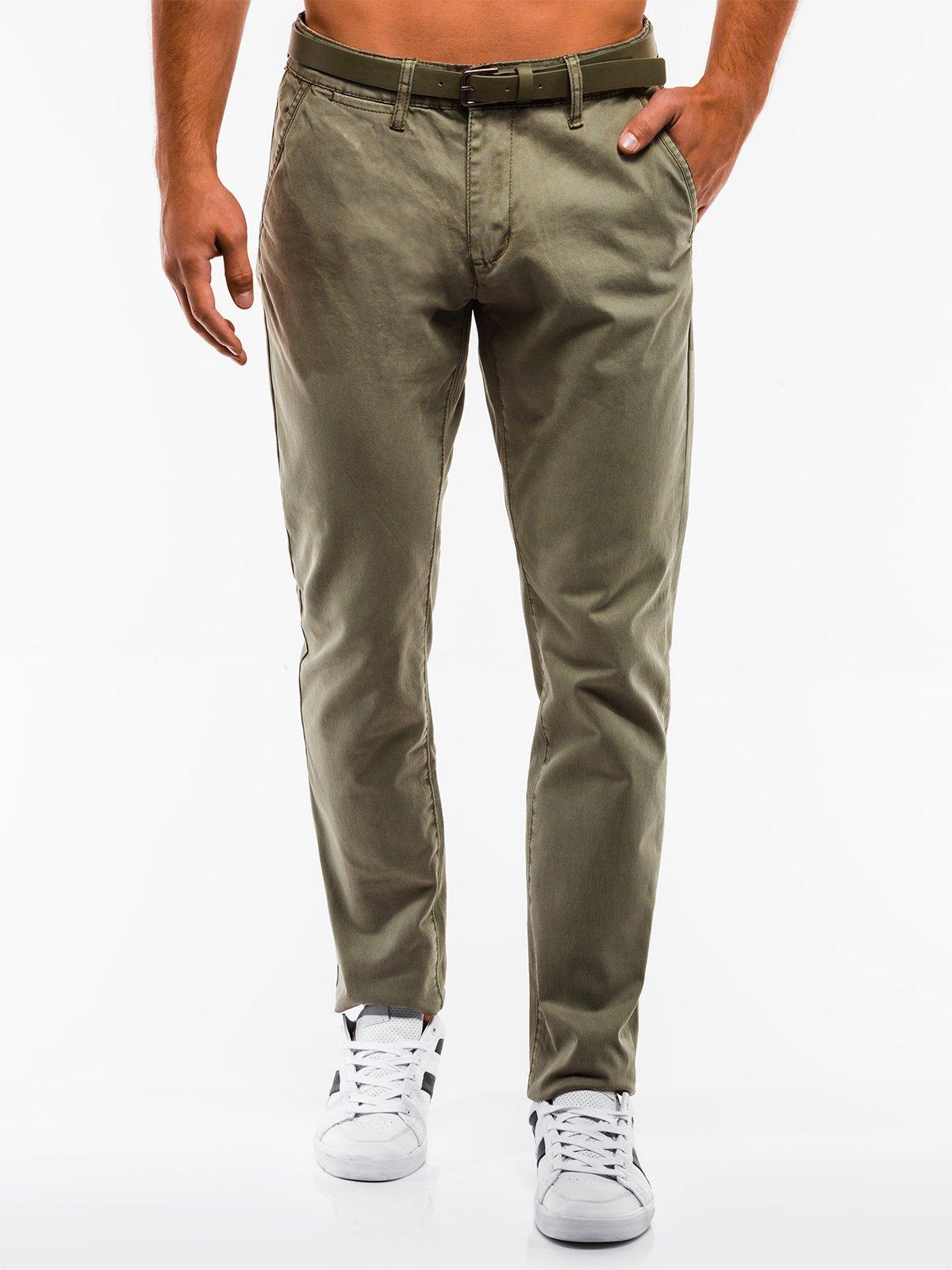 Spodnie męskie chino 837P khaki