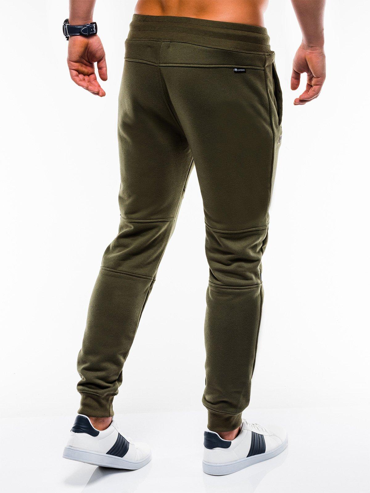 Spodnie męskie dresowe 743P oliwkowe