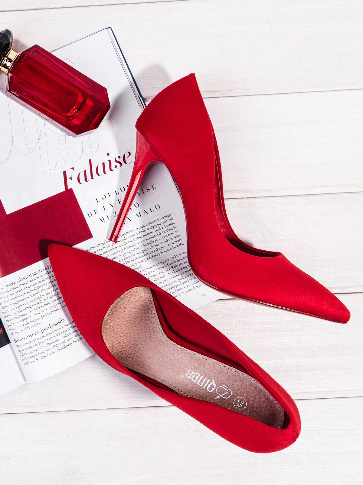 buty damskie czerwone do pracy