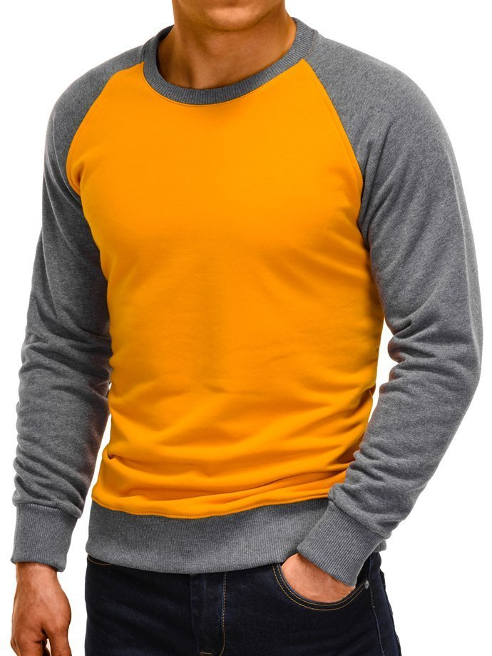 bluza męska musztardowa