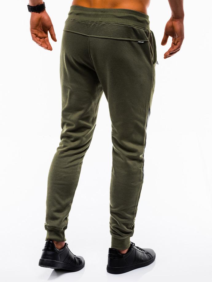 Spodnie męskie dresowe 738P oliwkowe