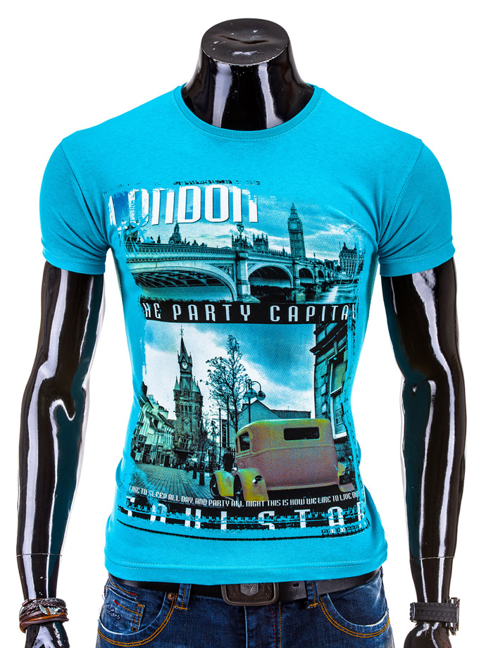 T-shirt 567S - turkusowa